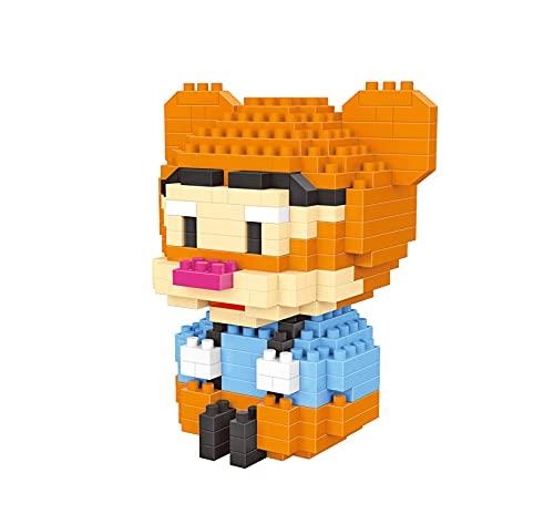 Block Toy Micro Disney Bloques Mickey Mouse Donald Pato Mini Diamante Figura 3D DIY Juguete para Niños Educación G