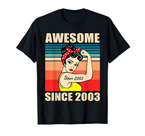Gift for 18 Year Old Women Vintage 18th Birthday 2003 Woman T-Shirt