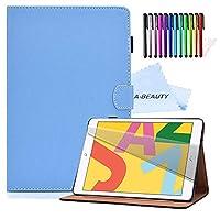 A-BEAUTYケース、iPad第7世代10.2インチ2019用スタンドケース、[無料ペン] [スクリーンプロテクター] [自動スリープ/スリープ解除]、青2