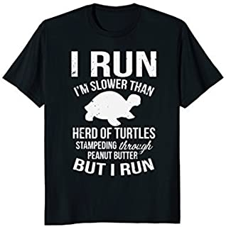 I Run I'm Slow But I Run Funny Running T-Shirt for Women [並行輸入品]