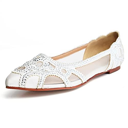 Top 10 best selling list for elegant wedding shoes flat