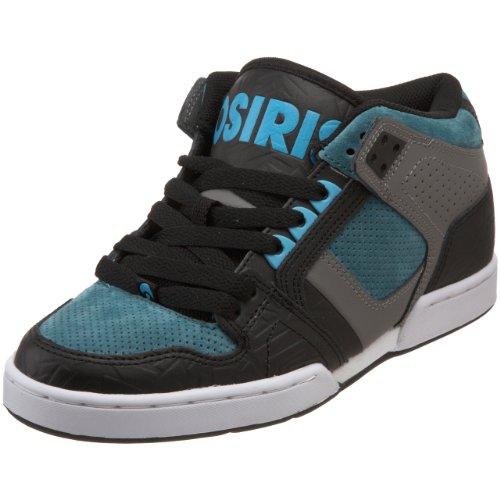 Osiris Herren NYC 83 Mid Skate Schuh, Schwarz (Schwarz/Anthrazit/Blaugrün), 46 EU