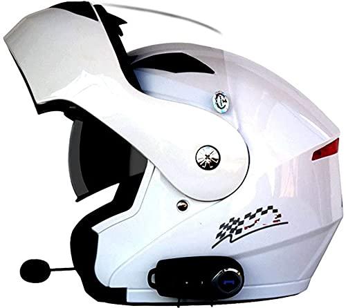 OOMEI Casco De Moto Modular Bluetooth Integrado Casco,ECE Homologado,con Doble Visera Cascos De Motocicleta,Transpirable Y Cómodo,para Adultos Mujeres Y Hombres Diseño de Personalidad