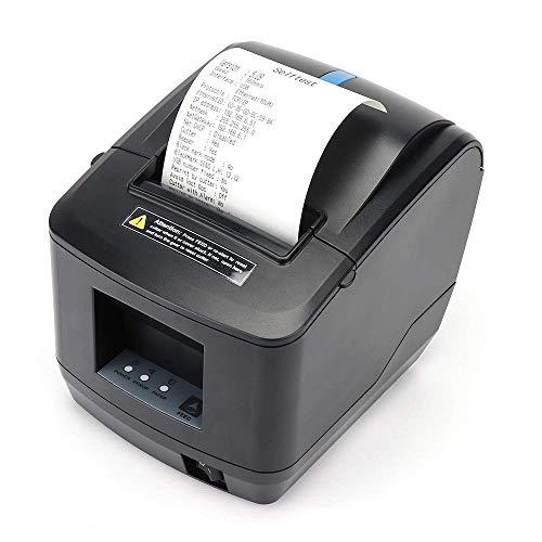 MUNBYN | impresora térmica 80mm - USB Ethernet LAN con cortador automático -velocidad de impresión 200 mm/seg