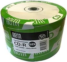 King of Flash Ritek Jet dencre professionnel Disques vinyle blanc imprimable 52/x CD-R 700/MB//80min CD