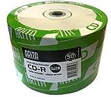 Lot de 50 CD-R 52x Ritek / Arita - Disques pour 700 Mo de données ou 80 minutes de vidéo - Revêtement blanc imprimable au...