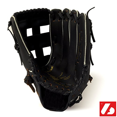 """Barnett JL-125 REG guanto da baseball e softball per principianti p.u. esterno/outfield 12,5\"""" per destri, guanto mano sinistra, nero"""