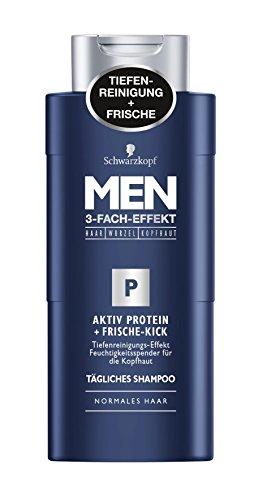 Schwarzkopf Men Aktiv Protein Frische-Kick Shampoo, 4er Pack (4 x 250 ml)