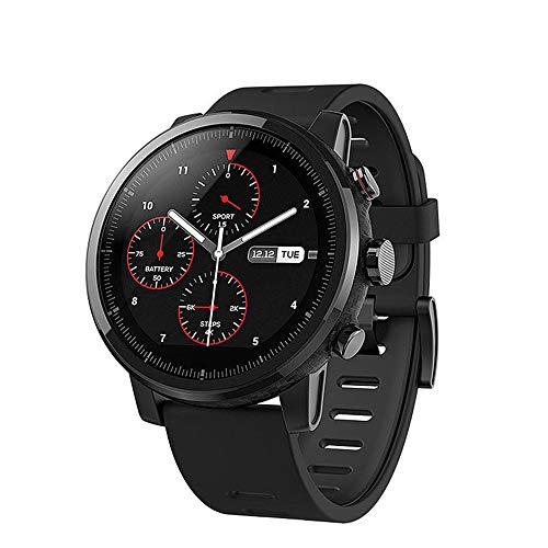 AMAZFIT Stratos 2 Smartwatch, Huami Reloj Inteligente con GPS, Versión Internacional, Funciona con iOS y Android (Negro)