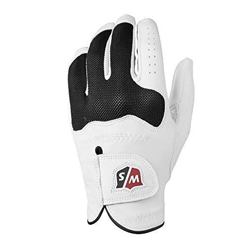 Wilson Staff Conform Glove Guante de Golf, para Mujer, Mano Izquierda, Rizo/Cuero cabretta, Blanco, M