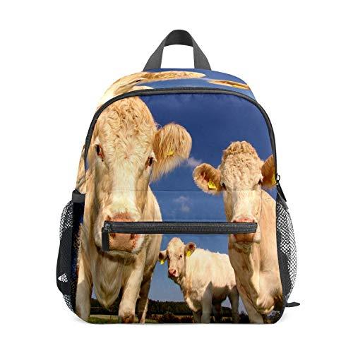 Mochila infantil para niños de 1 a 6 años de edad, mochila perfecta para niños pequeños a guardería, agricultura, ganado, vaca, animales