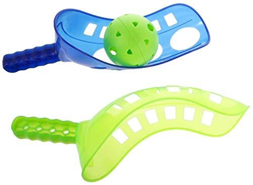 WXH Juguetes Throw Juguete de la Cucharada de la Bola del Juguete de la Cucharada de Aire del Patio Trasero Toss Juego y coger el Juguete de plástico