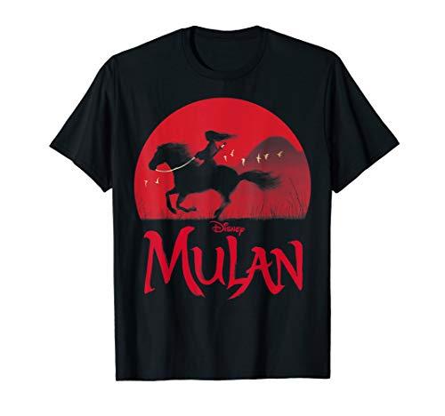 Disney Mulan Live Action Mulan & Khan Sunset Silhouette T-Shirt