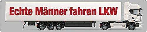 Les vrais hommes conduite Camion Plaque de rue en fer-blanc 16 x 3,5 cm Str magnétique de M 24