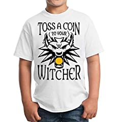 Toss A Coing To Your Witcher Poster Wolf Unisex Kids T-Shirt Children's Camiseta