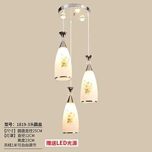 Luckyfree creatieve moderne fashion hanger lampen plafondlamp kroonluchter slaapkamer woonkamer keuken, champagne kleur 1819 - harde schijf met een licht rups