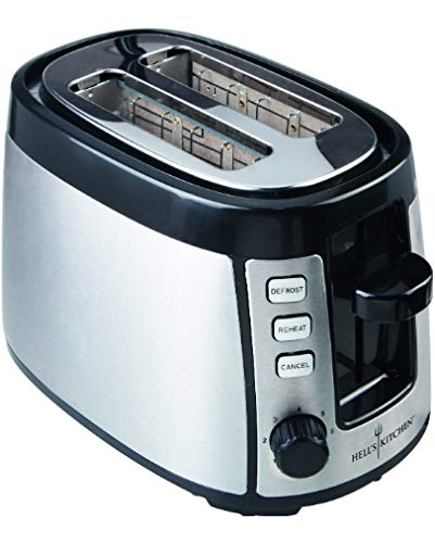 Ohmex Hell's Kitchen HKI-TXT-2231 - Tostadora de 2 ranuras, potencia 800 W,...