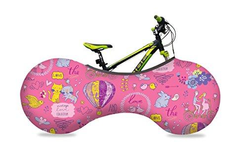 VELOSOCK Kids'BicycleIndoorStorageCover-Love-6 to8Years -BestSolutiontoKeepFloorsandWallsDirt-Free - FreeUSAShipping