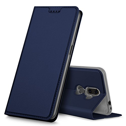 GeeMai Alcatel 3V Hülle, Premium Flip Case Tasche Cover Hüllen mit Magnetverschluss [Standfunktion] Schutzhülle Handyhülle für Alcatel 3V Smartphone, Blau