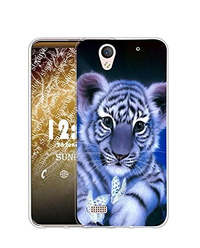 Sunrive Kompatibel mit Sony Xperia C4 Hülle Silikon, Transparent Handyhülle Schutzhülle Etui Hülle (Q Tiger)+Gratis Universal Eingabestift MEHRWEG