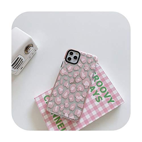 Phone cover Funda de teléfono con estampado de leopardo para iPhone 12 Mini 11 Pro Max 7 8 Plus X Xr Xs Max Se 2020 cubierta suave transparente Casos - Ws465-2-Para Iphonexs