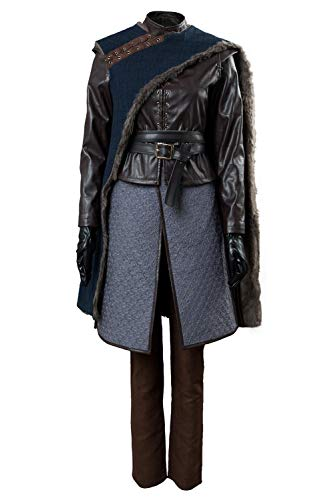 Disfraz de Arya Stark para mujer GOT Temporada 8 cosplay disfraz de Halloween conjunto completo Negro Negro ( XS