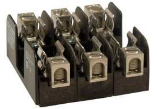 Mersen 20312 Class H and K Non-Spring Reinforced Fuse Block with Screw Connector, 10-14 Wire Range, 30 Ampere, 2 Pole