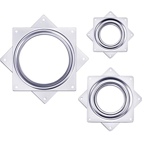Tatuo 3 Pieces Lazy Susan Turntable Bearing, Great for DIY Project for Home (3 Inch, 4 Inch, 6 Inch)