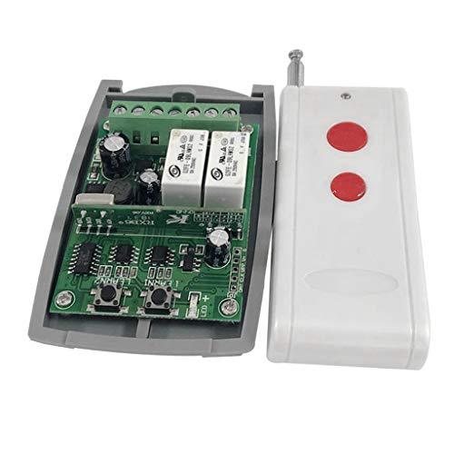 harayaa Interruptor Delantero Y Trasero de 433 MHz + 1 Mando a Distancia de Doble Tecla