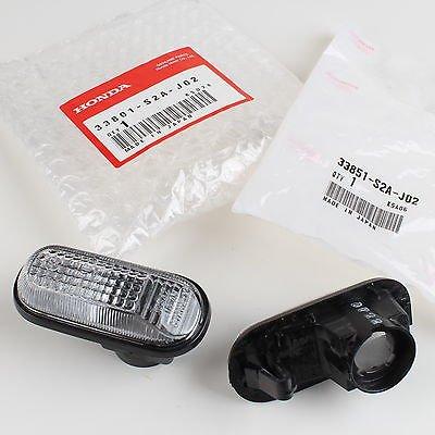 Honda Genuine OEM S2000 Clear Side Marker Lights 33801-S2A-J02 & 33851-S2A-J02 (1 Pair)