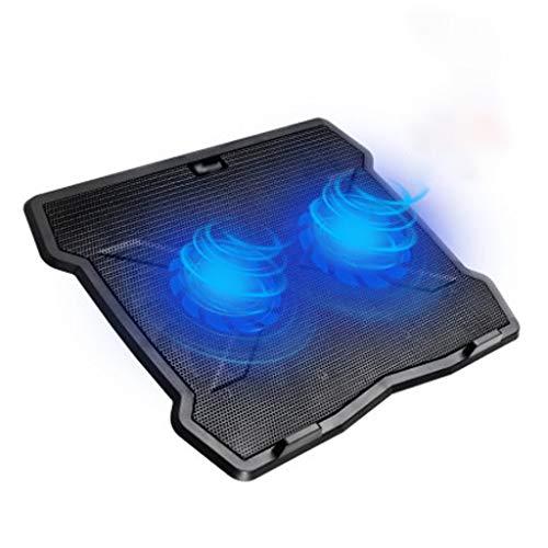 Base Portatil Base Refrigeradora Laptop Cooling Pad, ventiladores silenciosos de Super portátiles con LED azules, Powered USB portátil notebook gran fan del refrigerador del cojín del soporte del