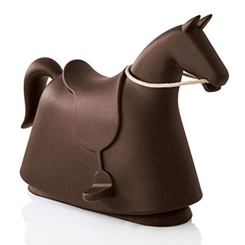 DUTUI Children's Fun Toys, Birthday Gifts for 3-7 Years Old Pony, Rocking Horse Playground Kindergarten Toy Rocking Chair, 71X50x95cm,Brown