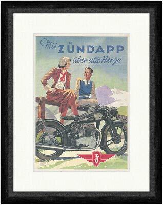 Kunstdruck Mit Zündapp über alle Berge Moped Marke Motor Werbung Faks_Plakatwelt 350