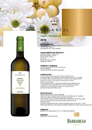Vino blanco Vega Real 100% Verdejo de 75 cl - D.O. Rueda - Bodegas Barbadillo (Pack de 6 botellas)