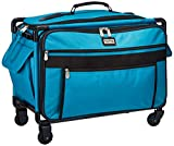 xl sewing machine trolley - Tutto 9224TMA Turquoise Sewing Machine on Wheels Case, 25 by 18.5 by 13