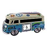 Van Miniature Hippie VW Style Vintage Bus Camper Collectible Mini Clock