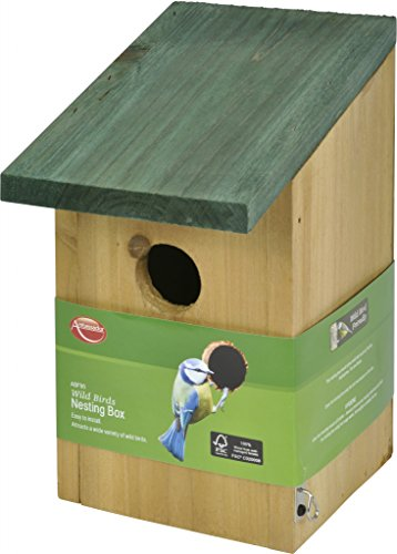 Ambassador Small Wild Bird Wooden Garden Nesting Box Bird House Wall Hanging