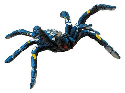 Bullyland 68459 - Spielfigur, Blaue Ornamentvogelspinne, ca. 6 cm, ideal als Torten-Figur, detailgetreu, PVC-frei, tolles Geschenk für Kinder zum fantasievollen Spielen