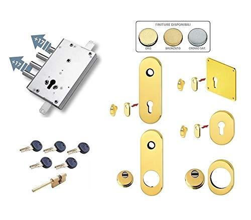Kit de cerradura completa para puerta blindada de cilindro europeo Kaba Matrix para Cisa Alias (placa larga y Defender largo)