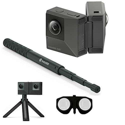 Insta360 EVO All-in-One Bundle: 180 3D + 360 Degree Action Video Camera
