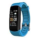 Reloj Inteligente Deporte Hombre,Smartwatch Ftiness Mujer,Reloj Inteligente Impermeable IP67,Deporte Pulsómetro Monitor de Sueño Monitores Actividad Cronómetros para And(Size:0.96,Color:azul claro)