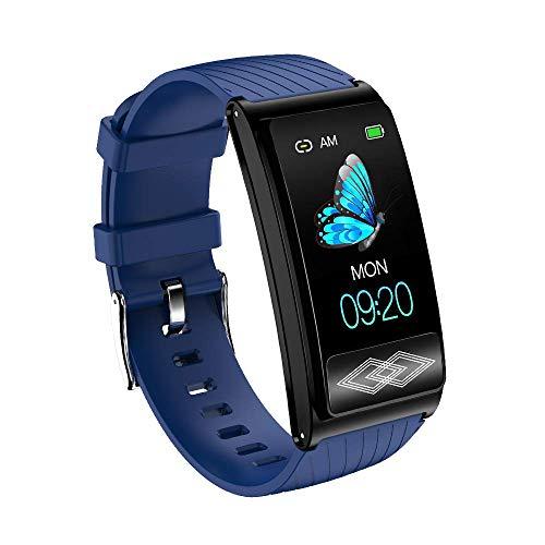 LCTS Bluetooth Sport-Armband-Farbe Bildschirm Intelligente Uhr, Ambulante 24-Stunden-EKG-Überwachung, Herzfrequenz Druck Blutsauerstoff Health Monitoring,Grün