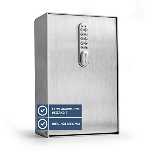 Caja de Llaves masunt 2125 E Code | Caja Fuerte de Llaves con innovadora asignación de códigos Online a Distancia | Acero Inoxidable Macizo | Resistente a la Intemperie