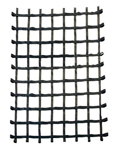 Fong 8 ft X6 ft Climbing Cargo Net Black - Climbing Net Outdoor - Cargo Net for Playset - Indoor Climbing net - Playground Cargo Net - Swing Set Accessories for Adults