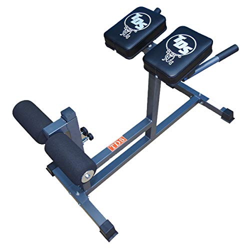 TDS Adjustable Heavy Duty Roman Chair Hyper-Extension Abdominal Bench with Thick Stitched Seats, Designed for Abdominal, Back, Gluteus, and Hamstring Training.