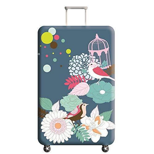 XKMY Fiore modello bagagli protezione valigia elastica coperture protettive Trolley caso Dust per 18-32 pollici accessori viaggio (colore : E, Taglia : S)