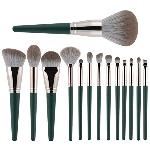 Demarkt Kit Pinceau Maquillage Brosse Professionnel 14PCS Eyebrow Shadow Makeup Blush Fond Teint AntiCerne (A)