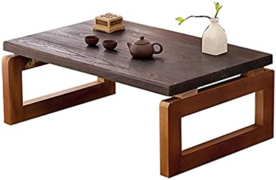 TANKKWEQ Kotatsu Table with Heater and Blanket Coffee Tables Kang Table Tatami Tea Table Wooden Window Table Japanese Dwarf Table Small Table Coffee Table Japanese Style Coffee Table Color : Wood, 60