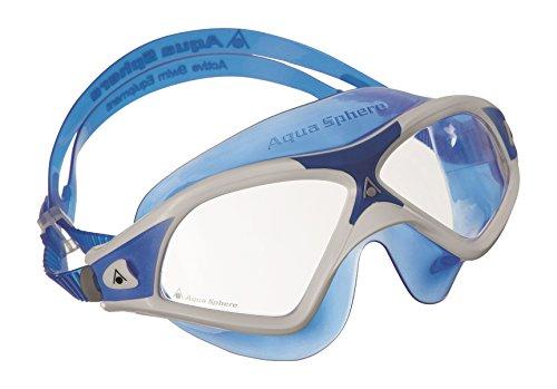 Aqua Sphere Seal XP2 natación máscara con Lente Transparente, Unisex, Color Azul - Blanc y Azul, tamaño n/a