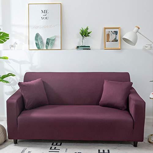 Funda de sofá de Color sólido para Sala de Estar Blanca como la Nieve, Funda de sofá elástica a Prueba de Polvo, Funda de sofá, Toalla elástica para sofá A18, 3 plazas